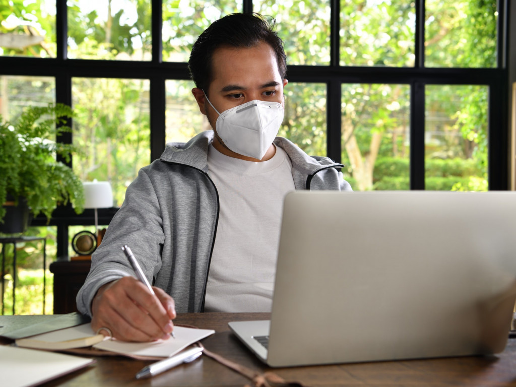 Man work from home , Coronavirus (covid-19)